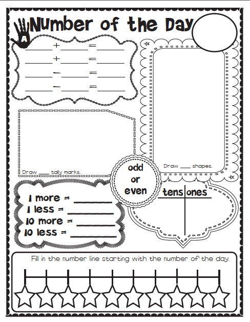 Calendar Math Printables First Grade : Calendar math folders the lesson plan diva