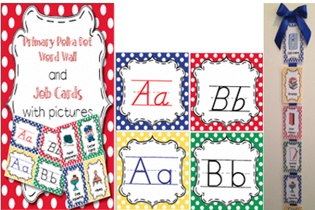 Classroom Job Cards and Word Wall/ABC Cards