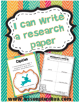 I can write a research paper! Non-Fiction Text Features/Informational Writing