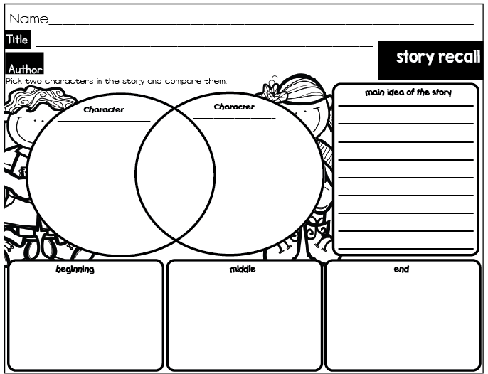 Reading Graphic Organizers on Story Map Freebie