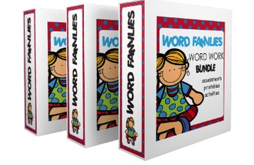 word work word families bundle
