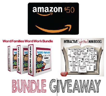 Win an AMAZON $50.00 gift card and 2 BUNDLE PACKS!