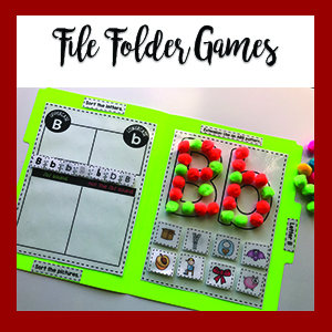 File Folder Games and Cookie Sheet Activities