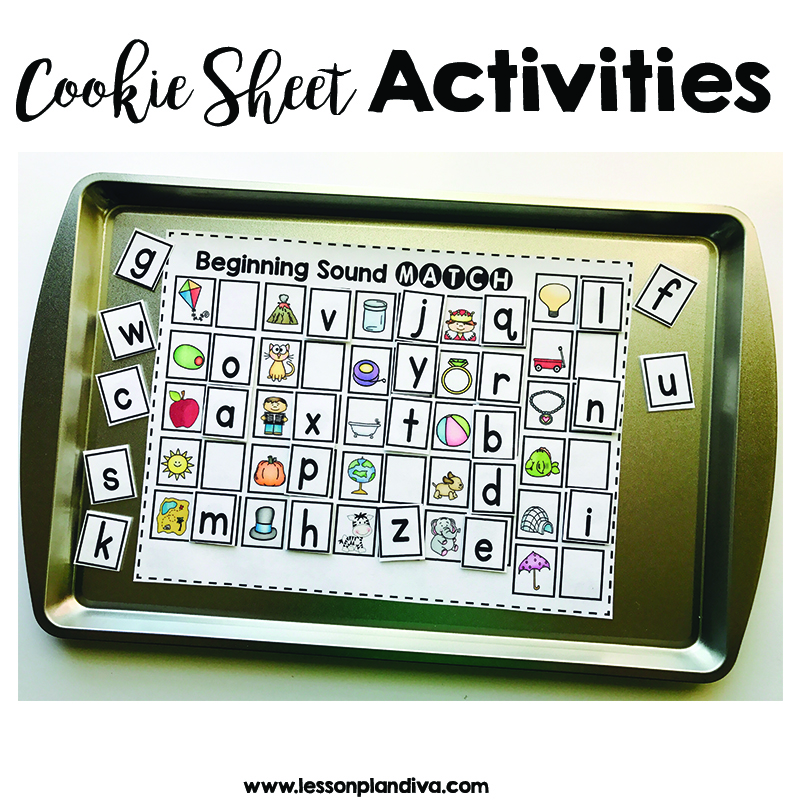 Cookie sheet activites