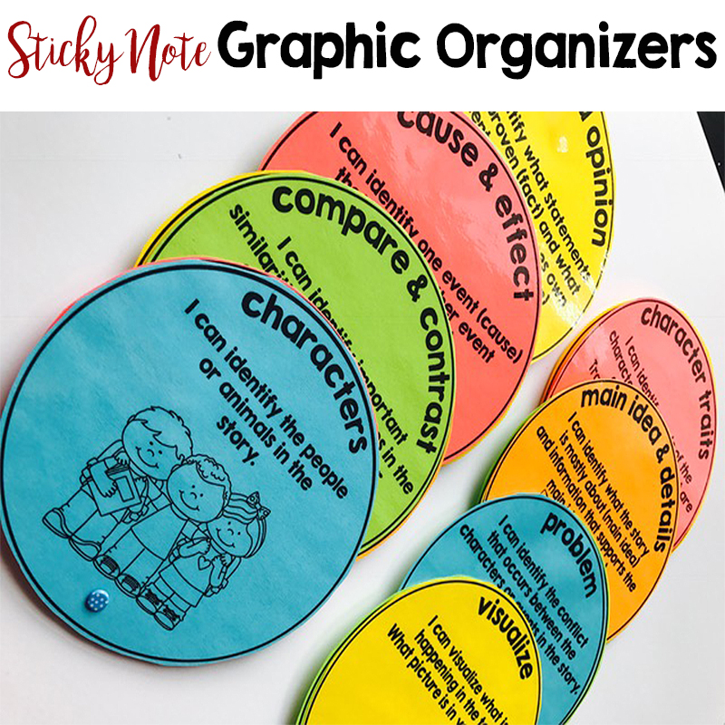 Sticky note graphic organziers