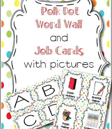 A little freebie for you! Word Wall/Job Cards